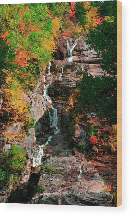Tranquility Wood Print featuring the photograph Silver Cascades In The White Mountains by Myloupe/uig