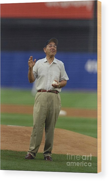 People Wood Print featuring the photograph Yogi Berra by Al Bello