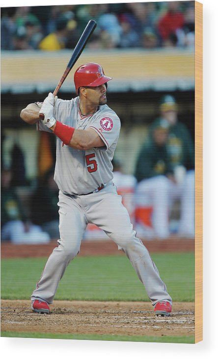 People Wood Print featuring the photograph Albert Pujols by Brian Bahr