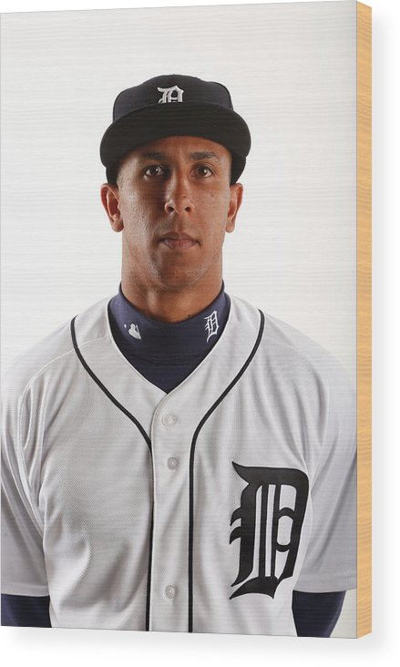 Media Day Wood Print featuring the photograph Anthony Gose by Brian Blanco