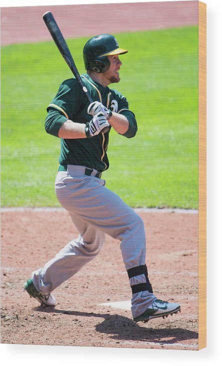 American League Baseball Wood Print featuring the photograph Brandon Moss by Jason Miller