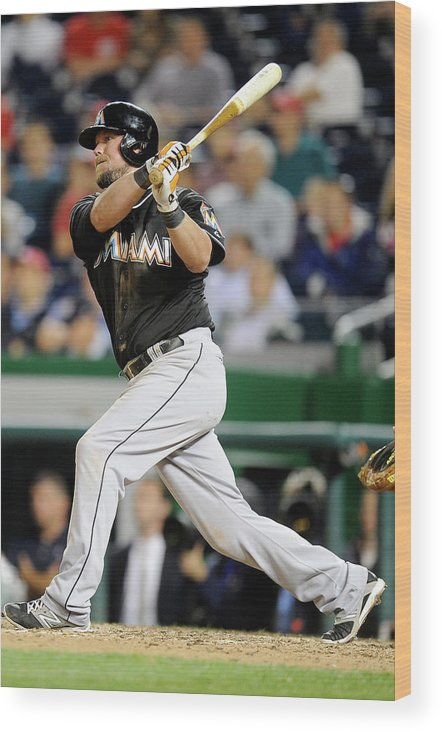 American League Baseball Wood Print featuring the photograph Casey Mcgehee by Greg Fiume