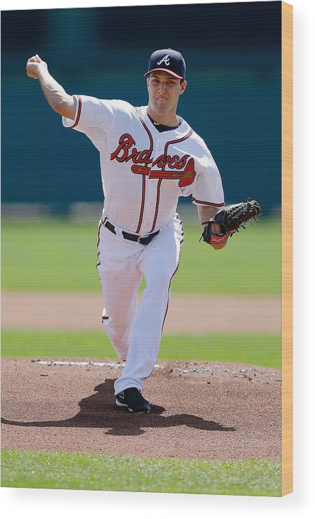 American League Baseball Wood Print featuring the photograph David Hale by Stacy Revere