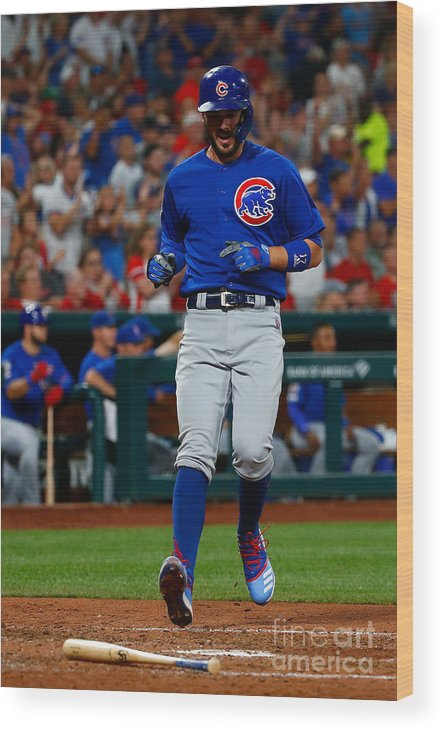 People Wood Print featuring the photograph Kris Bryant by Dilip Vishwanat