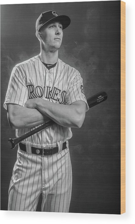 Media Day Wood Print featuring the photograph Troy Tulowitzki by Rob Tringali