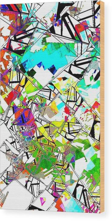 Nico Wood Print featuring the digital art Abstrakt by Nico Bielow