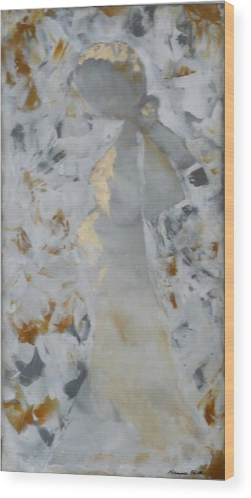 Urban Wood Print featuring the painting Anniversary - She by Hanna Fluk