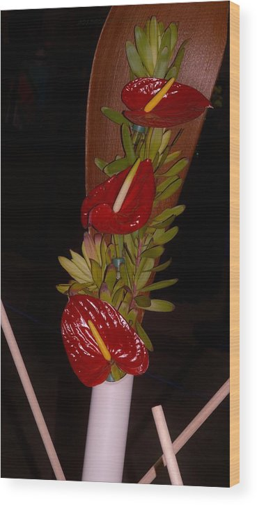 Anthurium Wood Print featuring the photograph Painter's Palette by Sonali Gangane