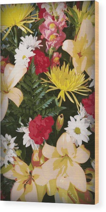 Flowers Wood Print featuring the photograph Floral 1 by Kevin B Bohner