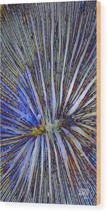 Microscopic Wood Print featuring the digital art Ocean Reality by Michele Caporaso