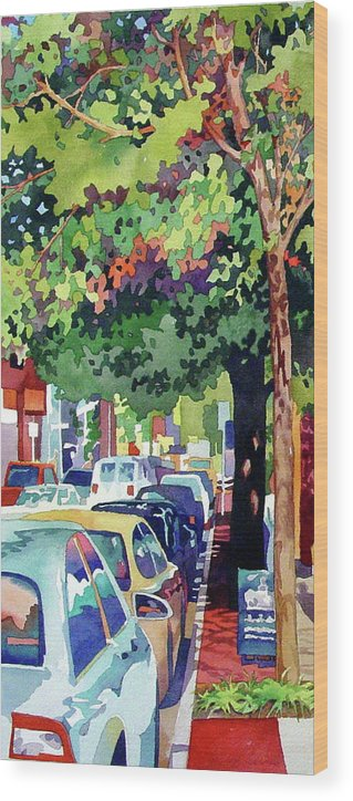 City Wood Print featuring the painting Urban Jungle by Mick Williams