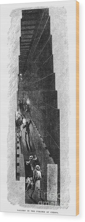 1887 Wood Print featuring the photograph Egypt: Pyramid Interior by Granger