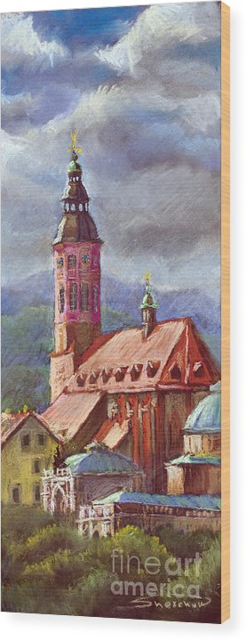 Pastel.germany Wood Print featuring the painting Germany Baden-baden 05 by Yuriy Shevchuk
