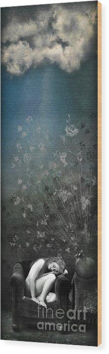 Aimee Stewart Wood Print featuring the digital art Lareverie by Aimee Stewart