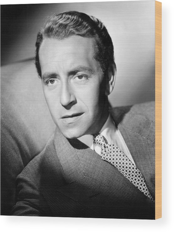 1940s Portrait Wood Print featuring the photograph Paul Henreid, Ca. Mid-1940s by Everett