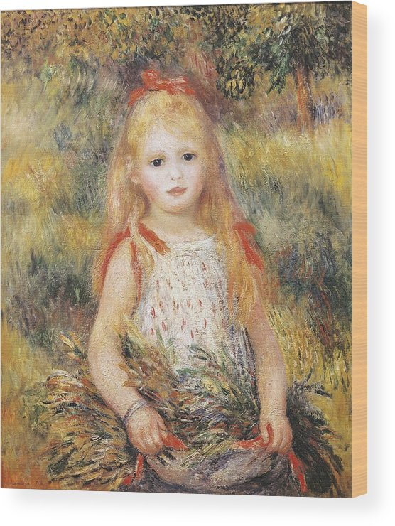 Vertical Wood Print featuring the photograph Renoir, Pierre-auguste 1841-1919 by Everett