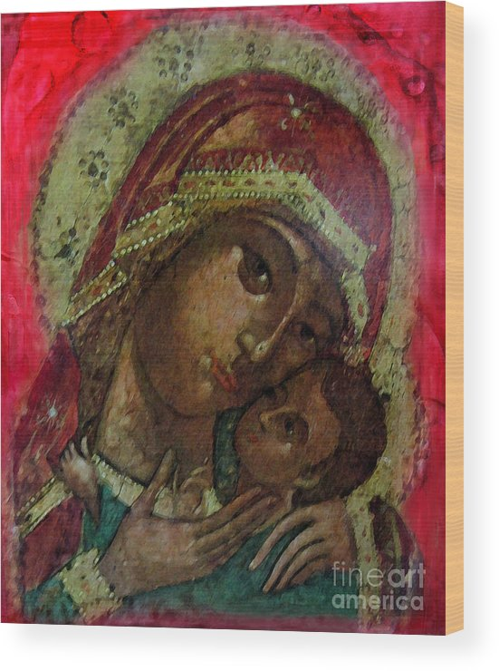 Icon Wood Print featuring the photograph Mystical Rose by Patricia Januszkiewicz