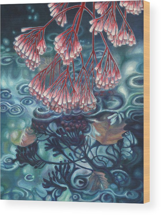 Autumn Wood Print featuring the painting Autumn Reflection by Bettie Stijnman