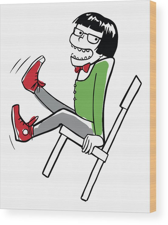 Wondrous Crazy Boy Swinging On The Chair Wood Print Forskolin Free Trial Chair Design Images Forskolin Free Trialorg
