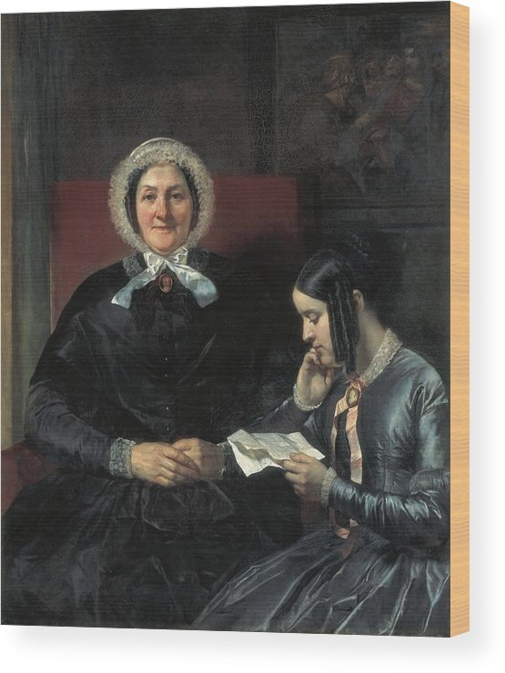 Vertical Wood Print featuring the photograph Gallait, Louis 1810-1887. The Mother by Everett