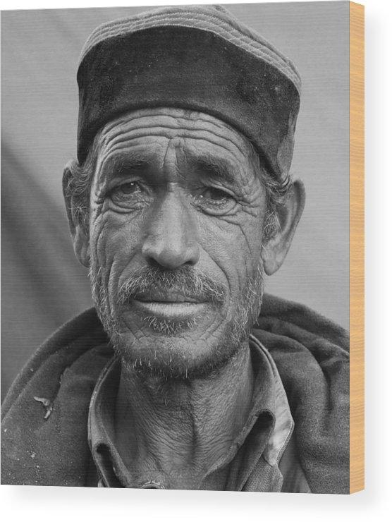 Portrait Wood Print featuring the photograph Portrait Of A Shepard by Kedar Munshi