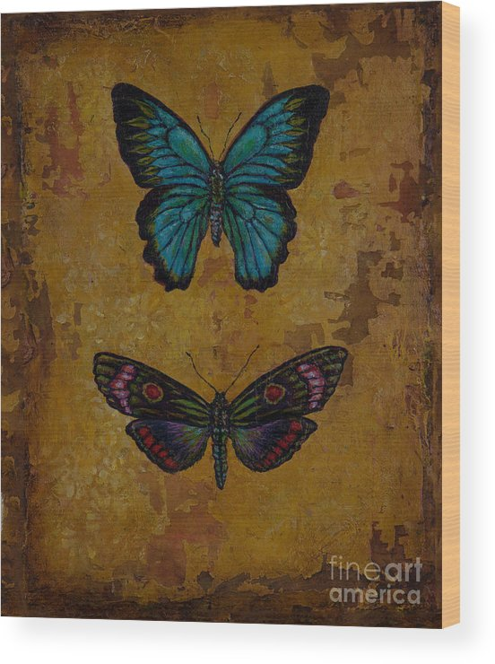 Wood Print featuring the painting Tango by Sandra Dawson