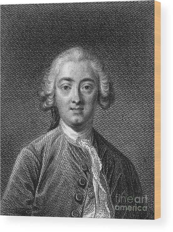 18th Century Wood Print featuring the photograph Claude Adrien Helvetius by Granger