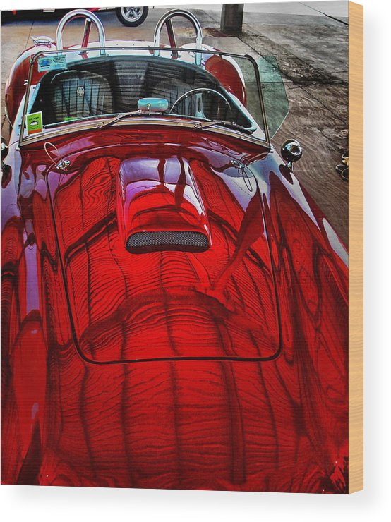 Car Wood Print featuring the photograph Mustang by Beto Machado