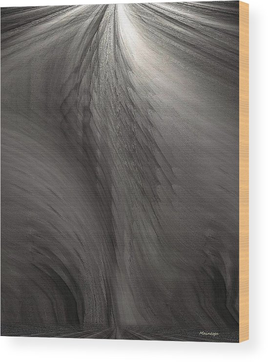 Abstract Wood Print featuring the digital art Muted by Ines Garay-Colomba