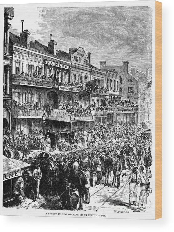 1862 Wood Print featuring the photograph New Orleans Streetscene by Granger