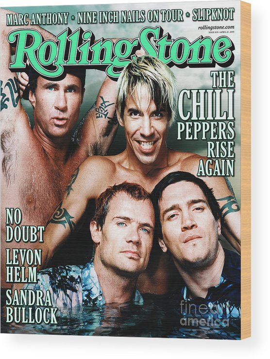 Red Hot Chili Peppers Wood Print featuring the photograph Rolling Stone Cover - Volume #839 - 4/27/2000 - Red Hot Chili Peppers by Martin Schoeller