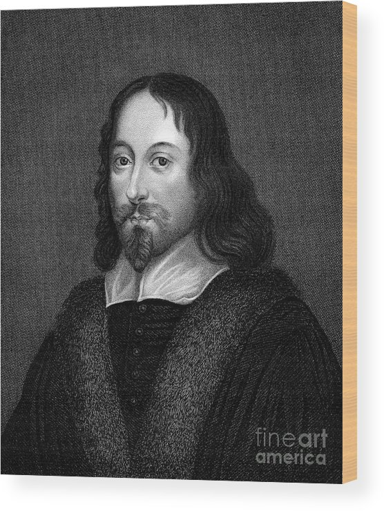 Beard Wood Print featuring the photograph Thomas Browne (1605-1682) by Granger