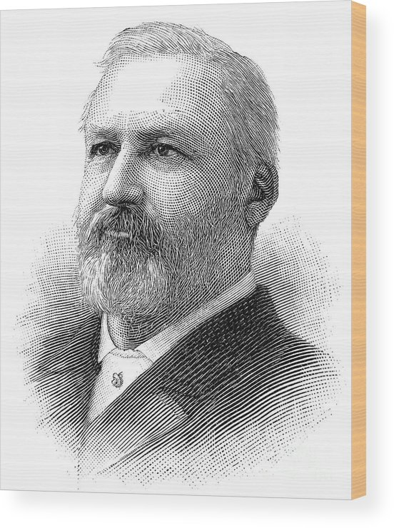 1890 Wood Print featuring the photograph William Henry Hatch by Granger