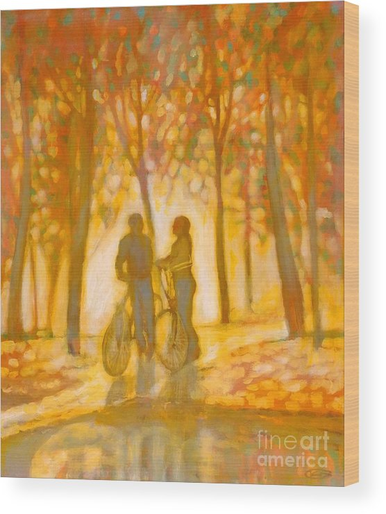 Romance Wood Print featuring the painting Chance Encounter by Kip Decker