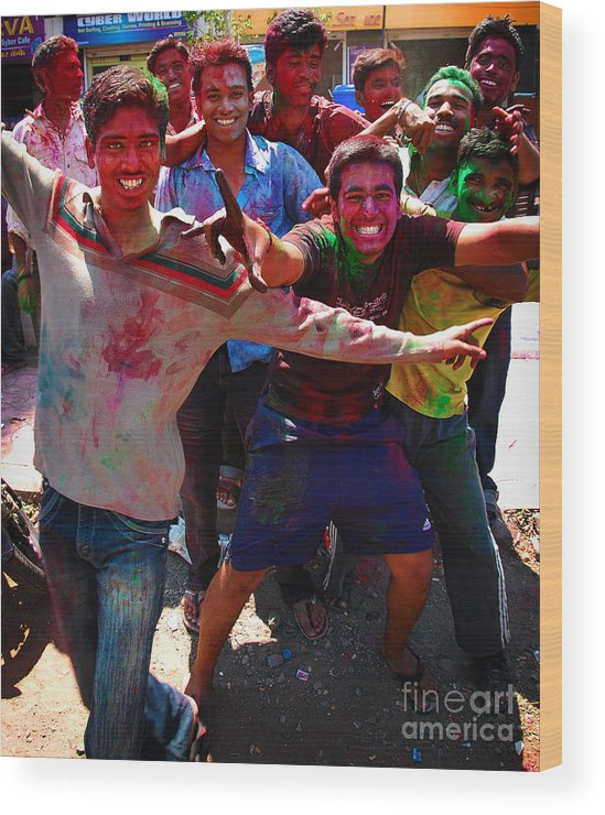 Boys Wood Print featuring the photograph Colors by Charuhas Images