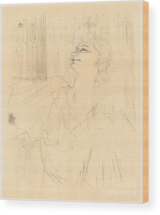 Wood Print featuring the drawing To Menilmontant From Bruant (a M?nilmontant, De Bruant) by Henri De Toulouse-lautrec