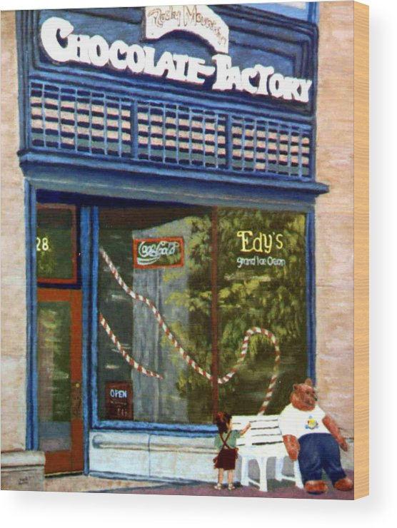 Original Oil On Panel Wood Print featuring the painting Chocolate Factory by Stan Hamilton
