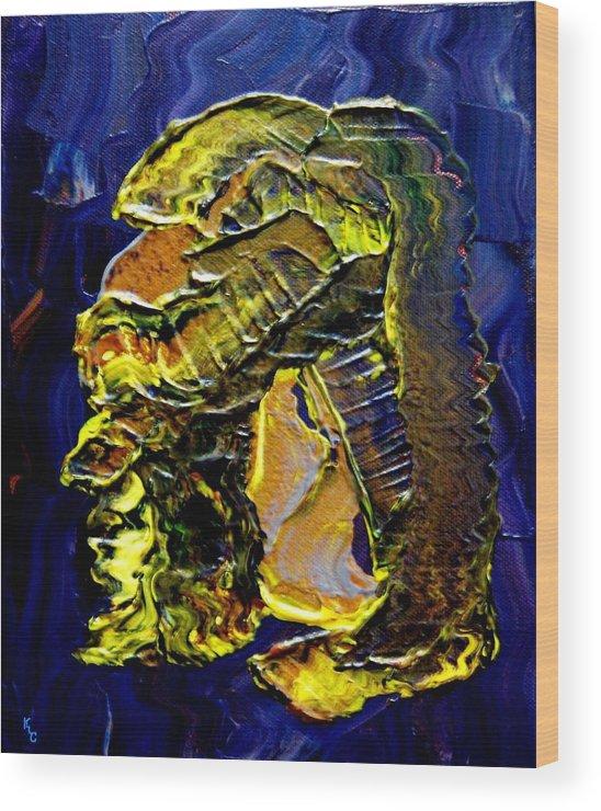 Man Wood Print featuring the painting Exposure by Karen L Christophersen