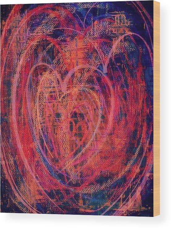 Heart Wood Print featuring the digital art Fiesta De Amor by Mildred Ann Utroska    Mauk