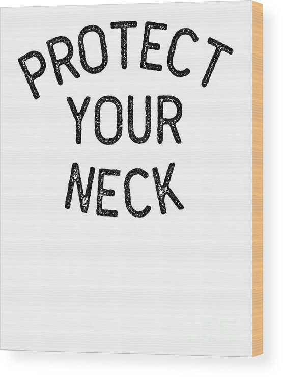 Bjj Wood Print featuring the digital art Jiu Jitsu Protect Your Neck Dark Jujitsu Bjj Gift Dark by J P