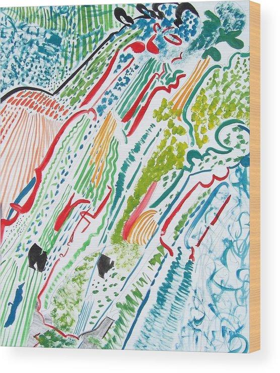 Violin Wood Print featuring the painting Mozart Seasons by Geraldine Liquidano