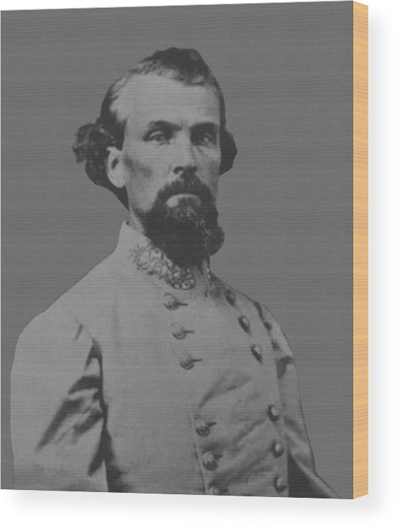 Nathan Bedford Forrest Wood Print featuring the painting Nathan Bedford Forrest by War Is Hell Store