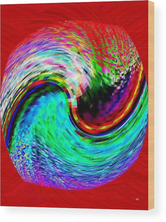 Abstract Wood Print featuring the digital art Pizzazz 32 by Will Borden