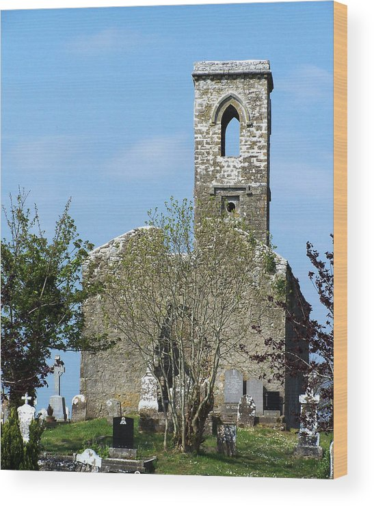 Fuerty Wood Print featuring the photograph Rear View Fuerty Church And Cemetery Roscommon Ireland by Teresa Mucha