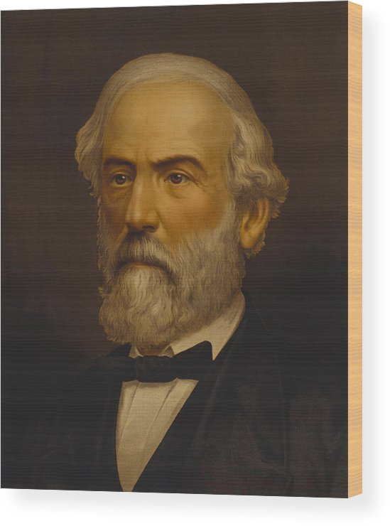 Robert E Lee Wood Print featuring the painting Robert E. Lee Painting by War Is Hell Store