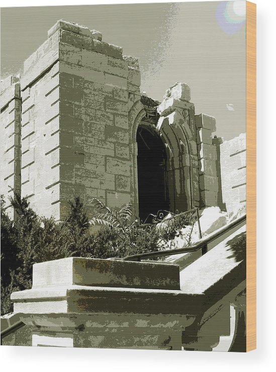 St Raphael Wood Print featuring the photograph Ruins Of Morlino by Gary Everson