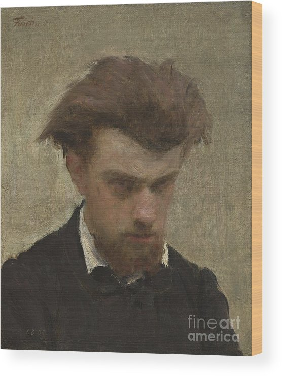Wood Print featuring the painting Self-portrait by Henri Fantin-latour