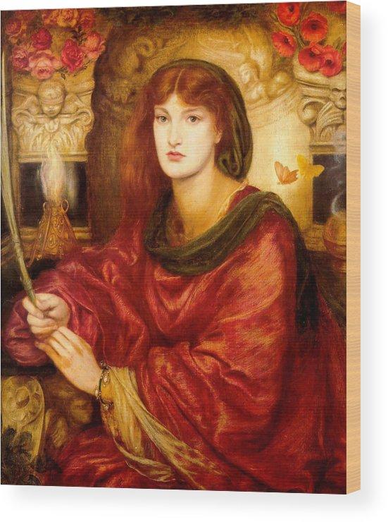 Dante Gabriel Rossetti Wood Print featuring the painting Sibylla Palmifera by Dante Gabriel Rossetti