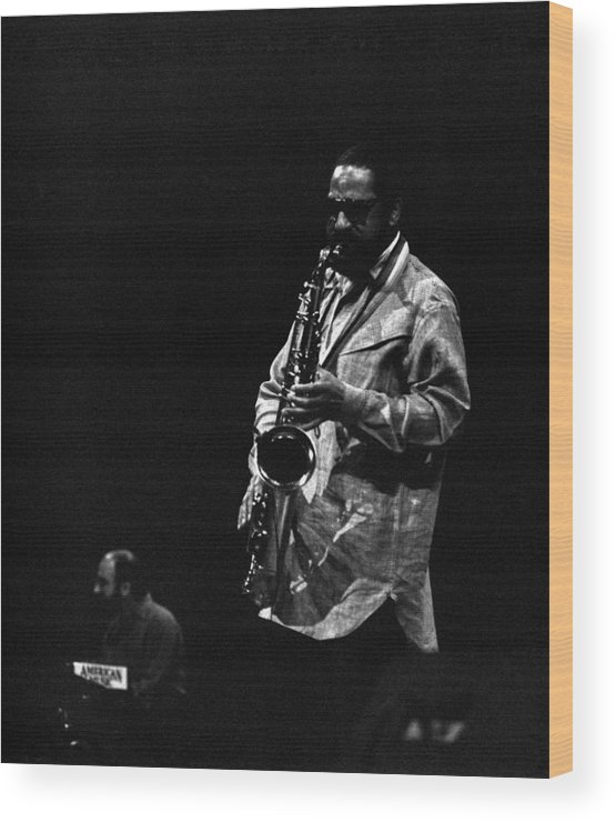 Jazz Wood Print featuring the photograph Sonny Rollins by Lee Santa