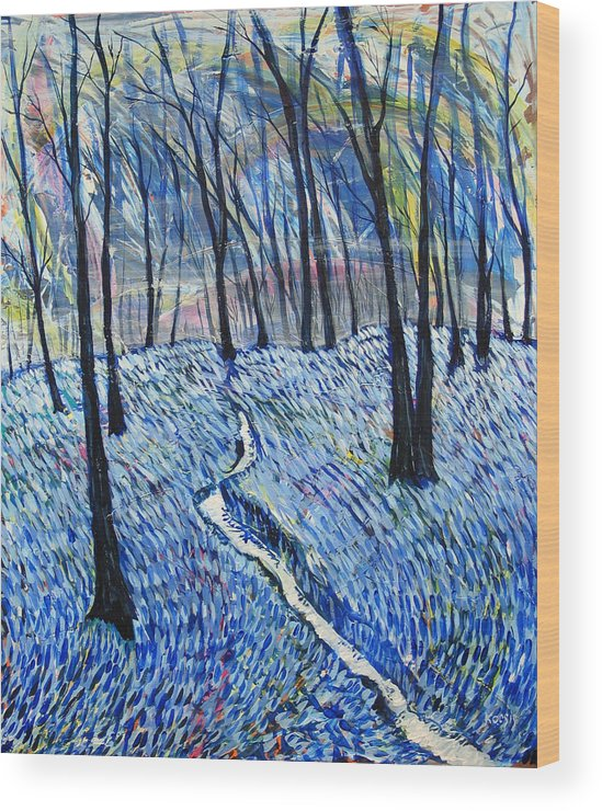 Landscape Wood Print featuring the painting Stream by Rollin Kocsis